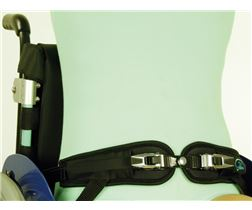 4-point pelvis belts with ratchet fastener for seatshells