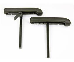 Armlehnenträger mit PU-Polster, gebogen