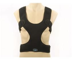 Chest shoulder belt with back strap