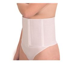 Elastic support bandage with plastic staves