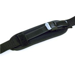 Foot strap padded with velcro fastener or plastic ratchet fastener
