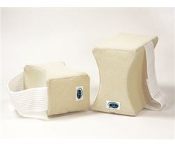Knee cushion with fixation strap