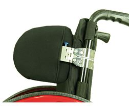 Thoracic pad system for wheelchair, folding function