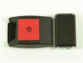 2-Punkt Beckengurt mit Metallschloss & Polster mit Druckpunktverschluss, einseitig verstellbar