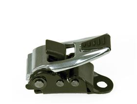 2-point pelvis belt with aluminium ratchet fastener covered for seatshells