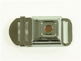 2-point pelvis belt with metal buckle Minitec with, pressure point fastener, adjustable on one side