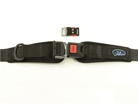 2-point pelvis belt with metal buckle and pad, adjustable on one side