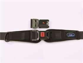 2-point pelvis belt with metal buckle with interlock and pad, adjustable on one side