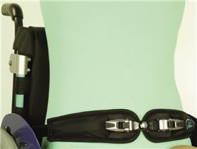 2-point pelvis belts with ratchet fastener for wheelchairs