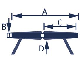 4-Punkt Beckengurt mit Verriegelung