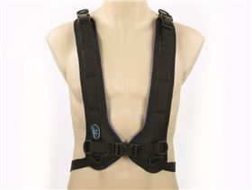 4-point chest belt with plastic buckle