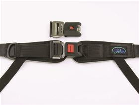 4-point pelvis belt with interlock and pad, adjustable on one side
