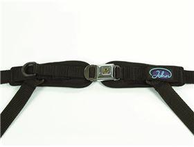 4-point pelvis belt with metal buckle Minitec with, pressure point fastener, adjustable on one side