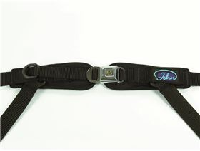 4-point pelvis belt with metal buckle Minitec with pressure point fastener, adjustable on one side