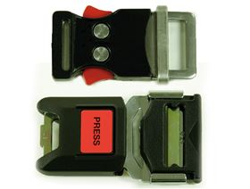 4-point pelvis belt with metal buckle and pad, adjustable on one side