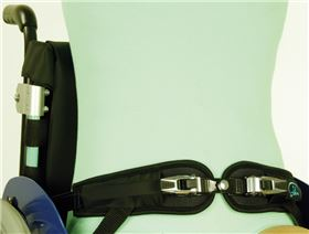 4-point pelvis belts with ratchet fastener for wheelchairs