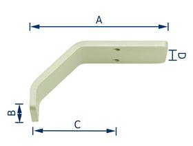 """Adapter Winkel 45° für """"TP40"""""""