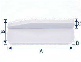 Armauflage mit Seitenführung (Ausführung: Rechts/Links), (Polster und Trägerblech)