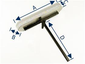 Armlehnenträger mit Lamellengelenk (Ausführung: Rechts/Links)