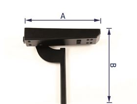 Armrest support angle adjustable, can be swung backwards