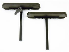 Armrest support with polyurethane padding, straight