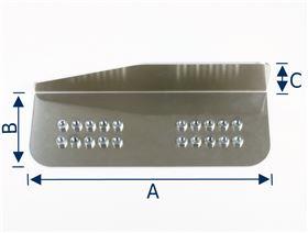 Blech für Armauflage, Seitenführung (Ausführung: Rechts/Links) mit Einschlagmuttern M6