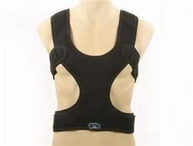 Chest shoulder belt with back strap