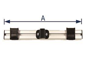Gurtführung für Kopfstützenrohr (für 25 mm Gurtband)