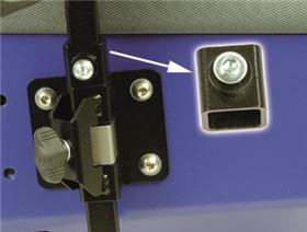 Höhenregulierung für Vierkantrohr 15 x 15 mm mit Schraube M6