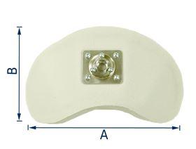 Kopfstütze Muschelform mit Kugelgelenkaufnahme