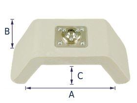 Kopfstütze U-Form mit Kugelgelenkaufnahme