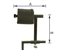 Kopfstützenhalter mit Federweg für Gelenkplatte