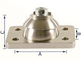Kugelgelenk für verstellbare Pelotten (Ausführung: Rechts/Links)