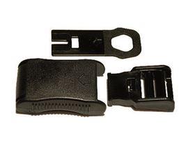 Kunststoff-Sicherheitssteckschloss mit Flachschlüssel, zusätzlich mit Ersatzschlüssel