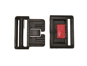 Kunststoff-Steckschloss mit roter Schiebetaste