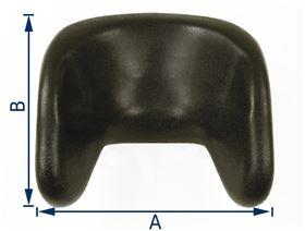 PU-Kopfstütze mit Seitenführung