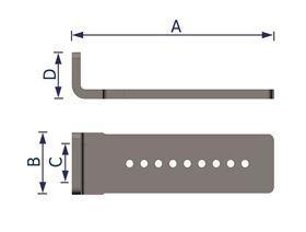 Pelottenverschiebung TP40, Rast-Schiebeteil 140 mm 90°, schwarz