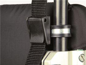 Rohrklappschnallen zur Gurtbefestigung am Rollstuhl