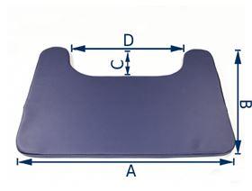 Therapietischpolster 2 cm, inkl. Haft und Flausch zum Fixieren