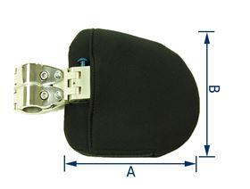 Thoraxpelotte Polsterstärke 3 cm, für ø 22 mm oder 25 mm (Ausführung Rechts/Links), abschwenkbar