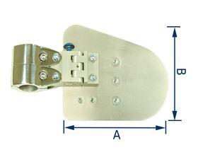 Thoraxpelotte Rohling, für ø 22 mm oder ø 25 mm (Ausführung Rechts/Links), abschwenkbar