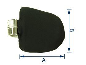 Thoraxpelotte f. Rollstuhl, ø 22 mm oder 25 mm (Ausführung Rechts/Links), starr