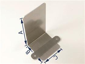 Thoraxpelotten-Klemmsystem 90° gekantet