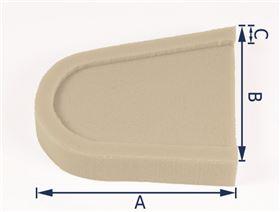 Thoraxpelottenpolster, gefräst  (Ausführung: Rechts/Links) Schaumstoff RG 4070