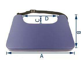 UNIQ therapy table with belt strap, 5 cm