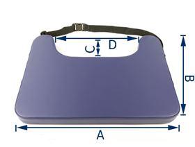 UNIQ therapy table with belt strap, 5 cm