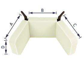 Verstellbare Kopfstütze bis 90° mit Kugelgelenkaufnahme