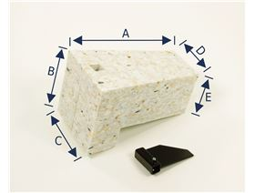 abduction wedge, foam workpiece, including device for glueing in
