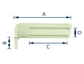 """adapter angle 90° slot hole for """"TP40"""""""