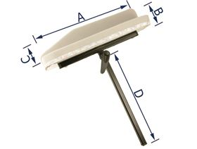 armrest support with lamella joint, (right or left-side fitting)